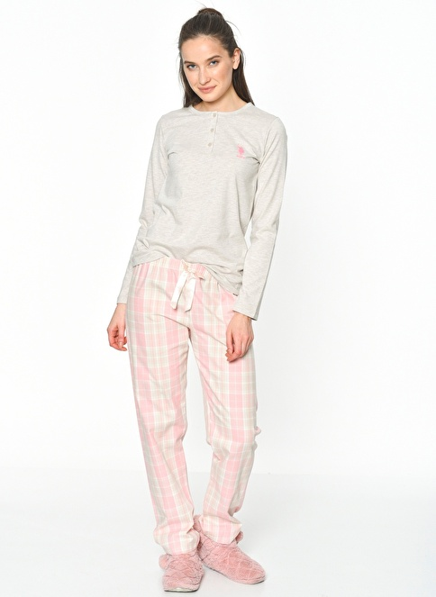 U.S.Polo Assn. Pijama Takım Füme